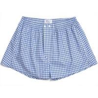 Blue Large Gingham Boxer Shorts - 1+