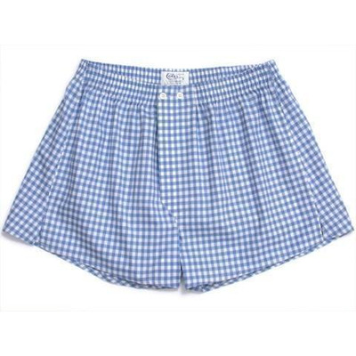Blue Large Gingham Boxer Shorts - 1+