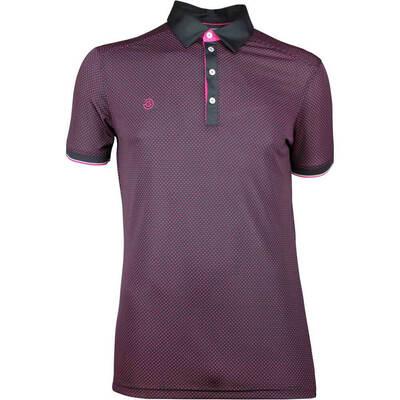 Galvin Green Golf Shirt MARLON Black Cerise SS18