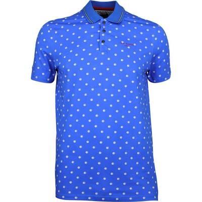 Ted Baker Golf Shirt Gulf Print Polo Blue SS18