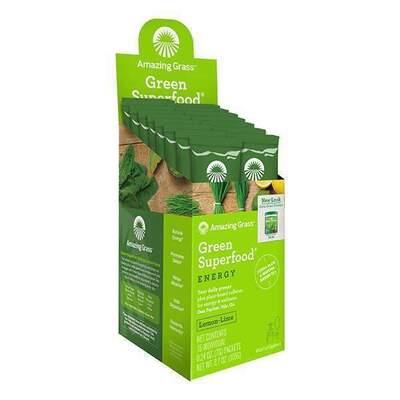 Amazing Grass Green Superfood Energy Lemon Lime 15 Sachets