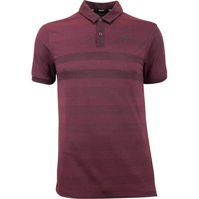 Nike Golf Shirt Zonal Cooling Polo Burgundy Crush AW18
