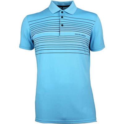 Galvin Green Golf Shirt Mateo River Blue AW18