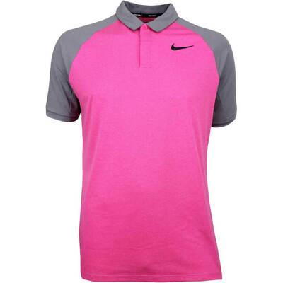 Nike Golf Shirt NK Dry Raglan Rush Pink AW18