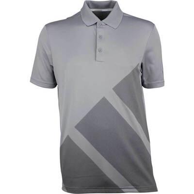 Adidas Golf Shirt Bold 3 Stripes Grey Three AW18
