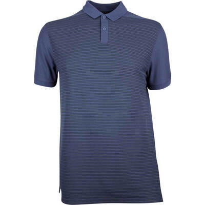 Nike Golf Shirt NK Dry Stripe Pique Obsidian AW18