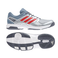 Image of Adidas Essence Silver/Grey/Red Indoor Hockey Shoes 2018 #UK 8