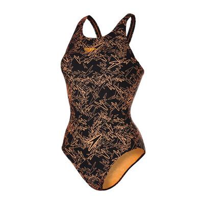 Speedo Endurance 10 Boom Allover Muscleback Ladies Swimsuit - 30