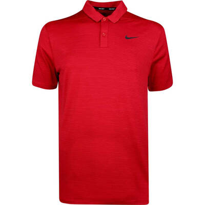 Nike Golf Shirt TW Dry Stripe Polo Gym Red AW18