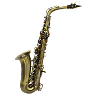 Alto Saxophone Antique Brass Finish With Case