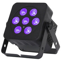 Slimline RGBWA & UV Par Can - 7 x 6w LEDs