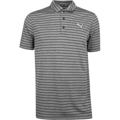 PUMA Golf Shirt Rotation Stripe Black SS19