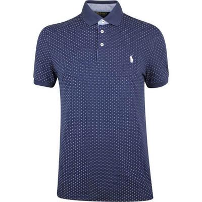 Ralph Lauren POLO Golf Shirt Printed Pique Polka Dot Navy SS19
