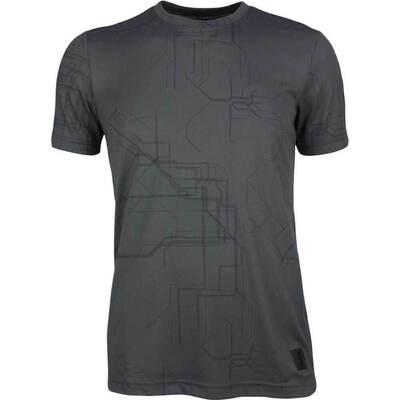 adidas Golf T Shirt Adicross Graphic Tee Carbon AW19