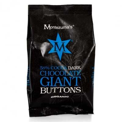 Montezumas Organic 54% Dark Chocolate Giant Buttons 180g
