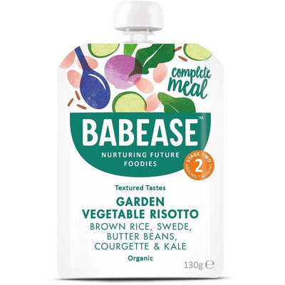 Babease Organic Garden Vegetable Risotto 130g -Stage 2 - Box of 6
