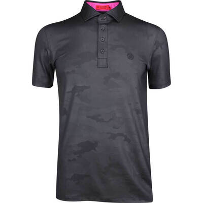 GFORE Golf Shirt Camo Embossed Polo Black Ink SS19
