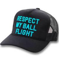 GFORE Golf Cap Respect My Ball Flight Trucker Onyx SS19