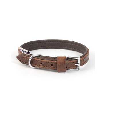 Ancol Vintage Padded Leather Dog Collar
