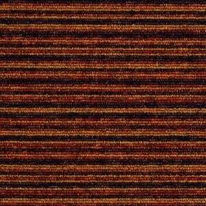 Burmatex Tivoli Multiline Heavy Contract Carpet Tiles Reunion Terracotta 20706