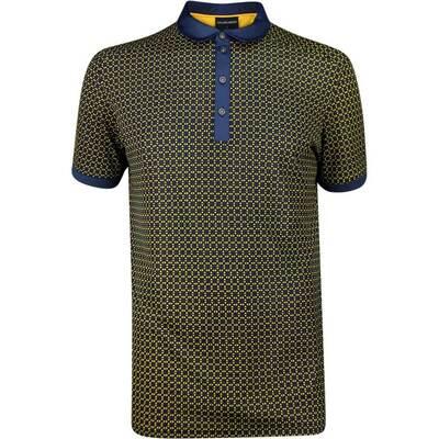 Galvin Green Golf Shirt Monte Navy Lemon Chrome SS19