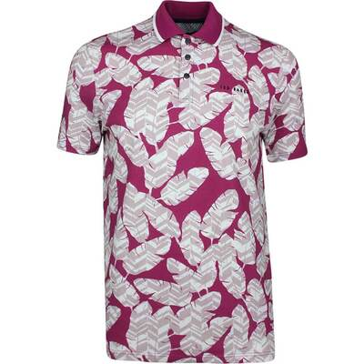 Ted Baker Golf Shirt Peacan Print Polo Pink SS19