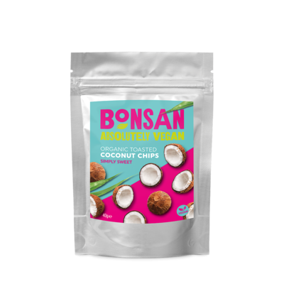 Bonsan Organic Toasted Coconut Chips 40g - Pack of 12