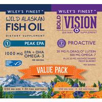 Bold Vision Value Pack - Wild Alaskan Fish Oil Peak EPA 1000mg 30's + Bold Vision Proactive 60's