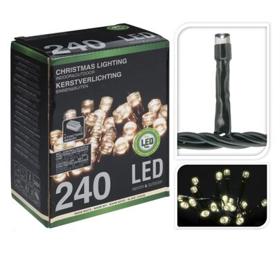 240 LED Fairy Lights Warm White