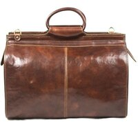 Classic Luxury Italian Leather Vintage Travel / Holdall / Weekend Bag - Brown