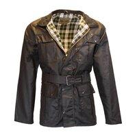 Walker & Hawkes Black Men's Wax Belted Jacket  / Coat - S