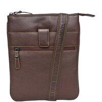 Woodland Leather Unisex Cross Body Messenger Bag - Tribal