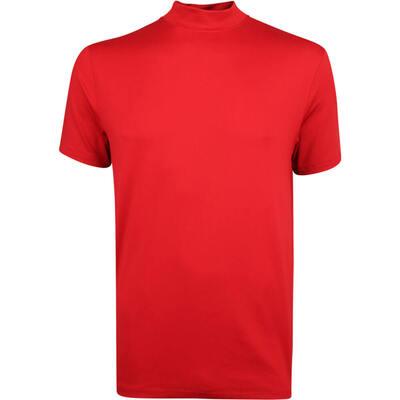 Nike Golf Shirt TW Vapor Mock Neck Gym Red AW19