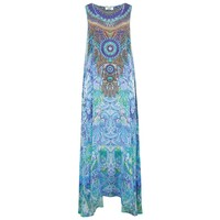 Flowing Maxi Printed Dress - Amalfi Azure