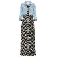 Lou Lou Long Shirt Dress - Blue & Black