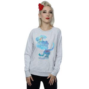 disney princess women's ariel filled silhouette sweatshirt