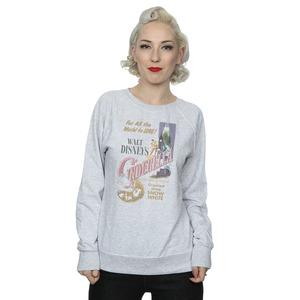 disney princess women's cinderella retro poster sweatshirt