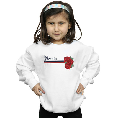 disney princess girls beauty and the beast belle stripes and roses sweatshirt
