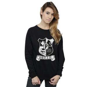 disney princess women's belle crest sweatshirt