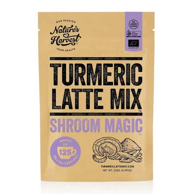 Natures Harvest Turmeric Latte Mix Shroom Magic 238g