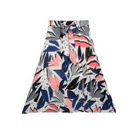 Miranda Midi Silk Skirt - Block Print