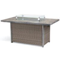 Kettler Palma Casual Dining Firepit Table Rattan