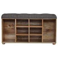 Artisan Furniture &pipe; Multi Tweed Shoe Cabinet with 6 Shelves