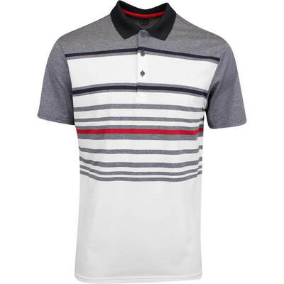 Galvin Green Golf Shirt Miguel White Red AW19