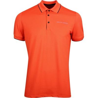 Galvin Green Golf Shirt Marty Tour Rusty Orange AW19