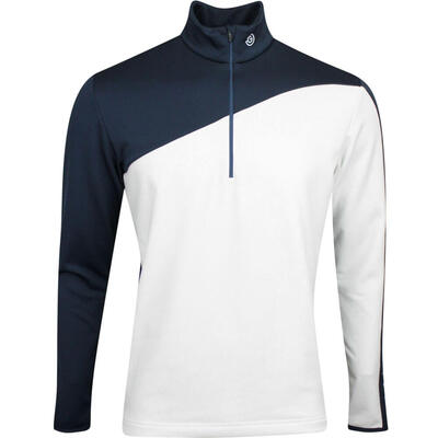 Galvin Green Golf Pullover Dylan Insula White Navy AW19