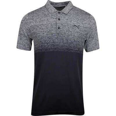 PUMA Golf Shirt Evoknit Ombre Black AW19