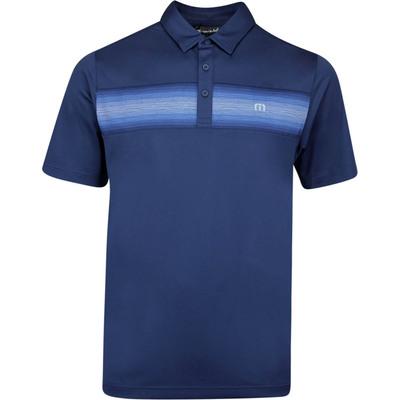 TravisMathew Golf Shirt Big Freeze Polo Mood Indigo AW19
