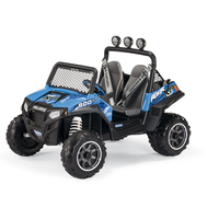 Peg Perego Polaris Ranger RZR 900 Blue Kids Off Road 12v Ride On Quad