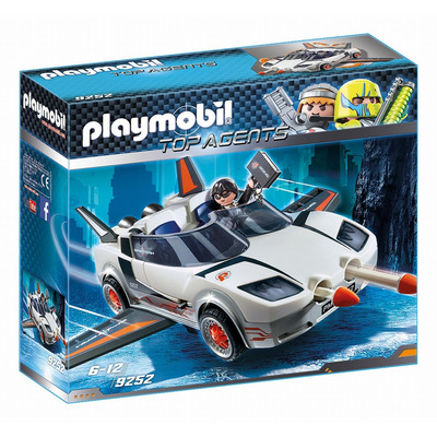 Playmobil Agent P. With Racer With Firing Weapons